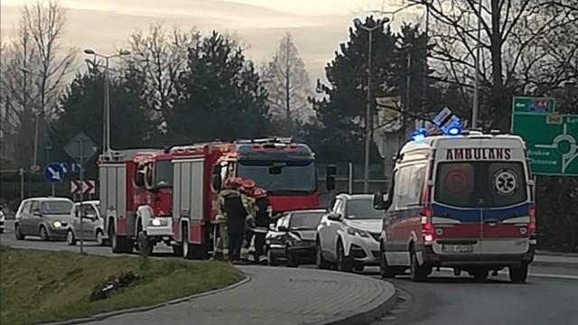 Wypadek z udziałem dwóch samochodów w Oświęcimiu – ZDJĘCIA!