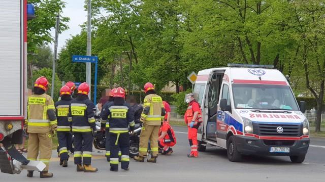 Wypadek z udziałem motocyklistki na DK44 w Oświęcimiu – ZDJĘCIA!