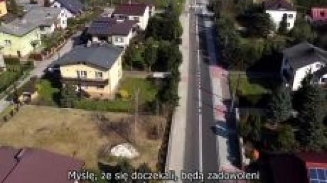 Wyremontowana ulica Oświęcimska z ziemi i powietrza