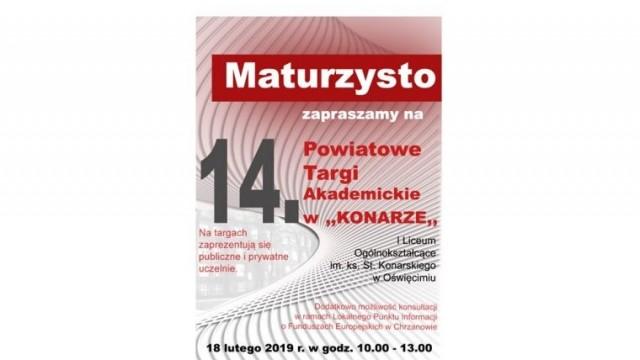 """XIV Powiatowe Targi Akademickie w """"Konarze"""""""