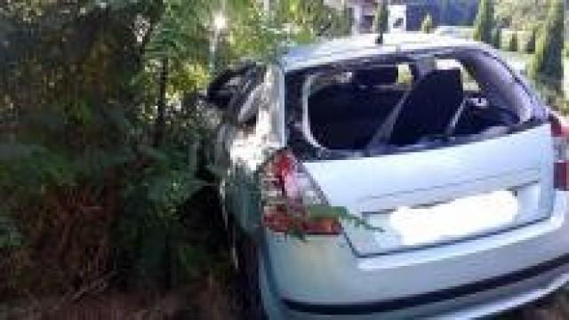 Zaborze. Kierujący z dożywotnim zakazem prowadzenia pojazdów mechanicznych  spowodował wypadek drogowy.