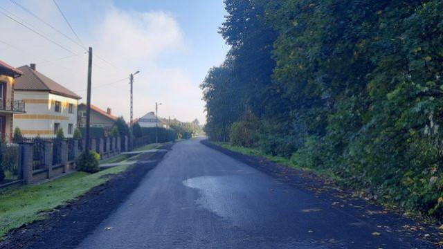 Zakończono modernizację drogi gminnej - ul. Grunwaldzkiej w Zatorze i Palczowicach