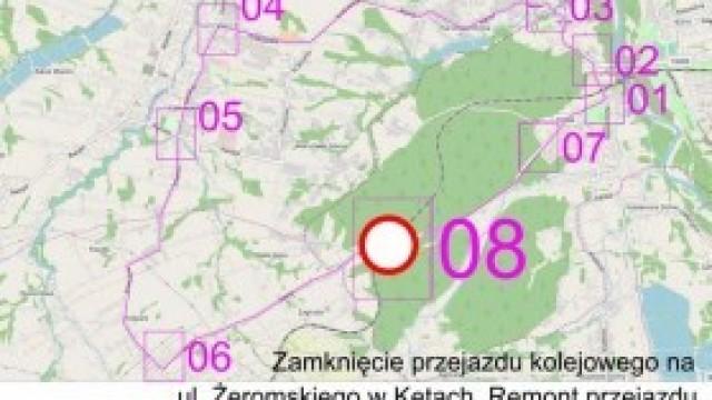 Zamknięcie przejazdu na ul. Żeromskiego - schemat objazdu