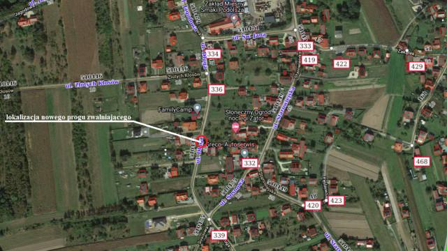 Zamknięty odcinek drogi gminnej - ul. Długiej w Podolszu