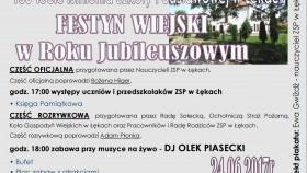 Zapraszamy na Festyn Wiejski w Roku Jubileuszowym w Łękach