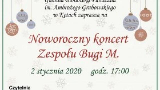 Zapraszamy na noworoczny koncert zespołu Bugi - M