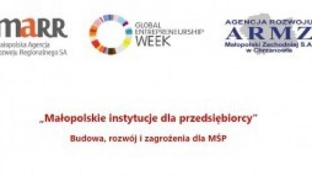 """Zaproszenie na konferencję """"Małopolskie instytucje dla przedsiębiorcy"""""""