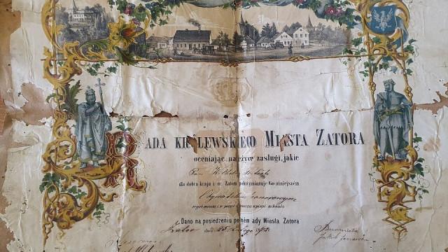 ZATOR. Bezcenny dokument z 1872 roku odnaleziony na poddaszu