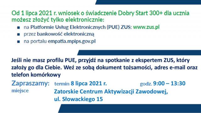 Zator: mobilny punkt ZUS dla wniosków o świadczenia 300+