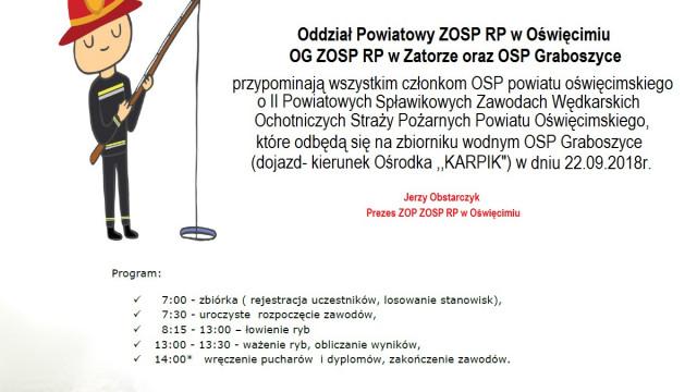 Zbliżają się II Powiatowe Spławikowe Zawody Wędkarskie dla strażaków OSP z naszego powiatu.