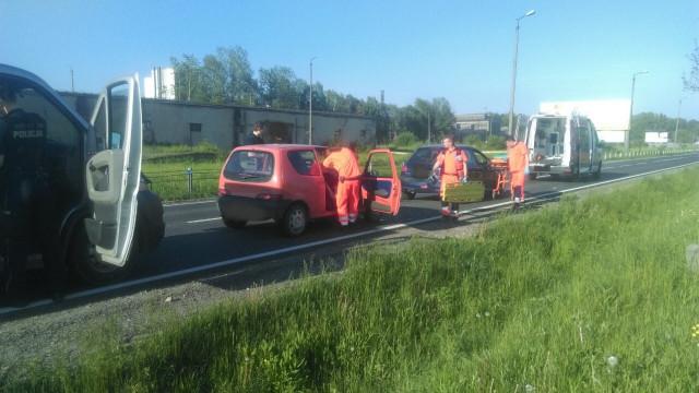 Zdarzenie drogowe na DK44 w Oświęcimiu. ZDJĘCIA !