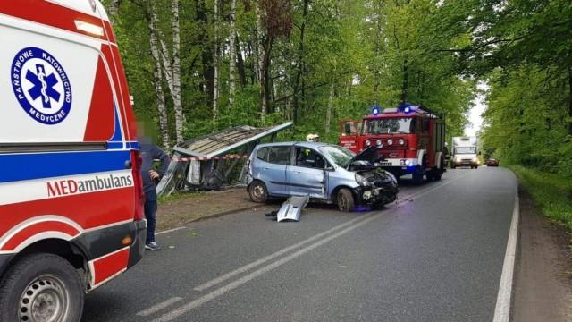 Zdarzenie drogowe w Polance Wielkiej – ZDJĘCIA!