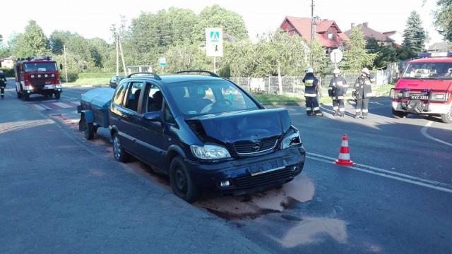 Zdarzenie drogowe w Polance Wielkiej. Dwie osoby poszkodowane. ZDJĘCIA !