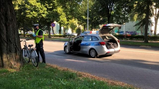 Zdarzenie drogowe z udziałem rowerzysty w Oświęcimiu – ZDJĘCIA!