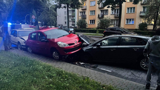 Zderzenie czterech samochodów w Oświęcimiu – ZDJĘCIA!