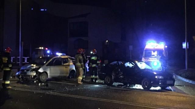 Zderzenie dwóch samochodów w Oświęcimiu