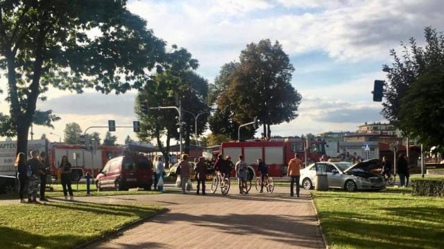 Zderzenie na Dąbrowskiego w Oświęcimiu. Są utrudnienia