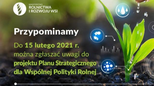 Zgłoś uwagi do Planu Strategicznego dla Wspólnej Polityki Rolnej
