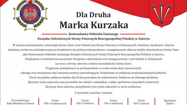 Zjazd sprawozdawczo - wyborczy Zarządu Oddziału Gminnego Związku Ochotniczych Straży Pożarnych Rzeczpospolitej Polskiej w Zatorze
