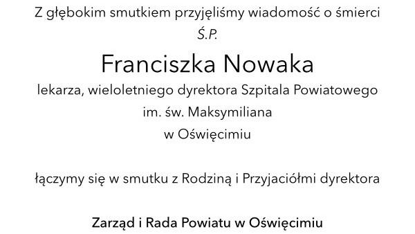 Zmarł Franciszek Nowak