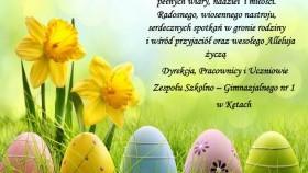 ZSG Nr 1 w Kętach - życzenia Wielkanocne